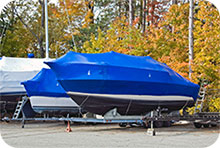 Shrink-Wrapped & Winterized Boats