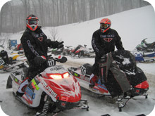 Two Snowmobilers